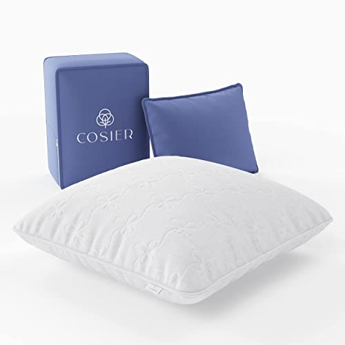 Cosier Oreiller Ergonomique Cervical Personnalisable Anti-Transpiration en Bambou et Coton, Coussin 60x60...