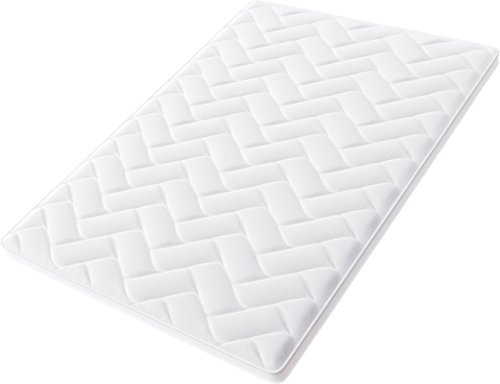 Hilding Sweden Nature Topper surmatelas en latex mousse, blanc, 200 x 160 x 6 cm