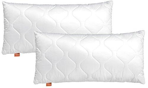 sleepling Comfort 196140 Lot de 2 Oreillers en Microfibre 50 x 70 cm, Blanc