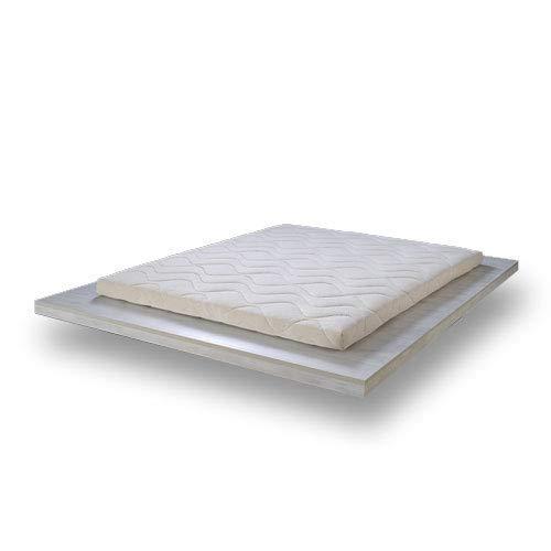 SURMATELAS Grand Confort en 100% Latex Naturel - 8 cm D'ÉPAISSEUR/Structure Respirante 7 Zones...