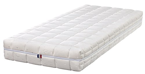 King of Dreams Natural Latex 80x200 Matelas Latex Naturel 80 Kg/m3 - DEHOUSSABLE Housse Lavable - Hauteur...