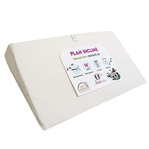 *Modulit - Plan incliné 100% Coton Bio pour lit Bébé 70x140*, Déhoussable, Fabrication Française