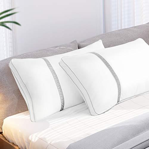 BedStory [Nouvelle Version] Oreillers Lot de 2 50x70, Oreillers Rectangulaires 50x70 avec Garnissage 3D...