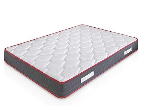 marcKonfort Matelas Ergo-Therapy 140x190 à mémoire de Forme | 18 cm Épaisseur | 2 cm de Mousse à...