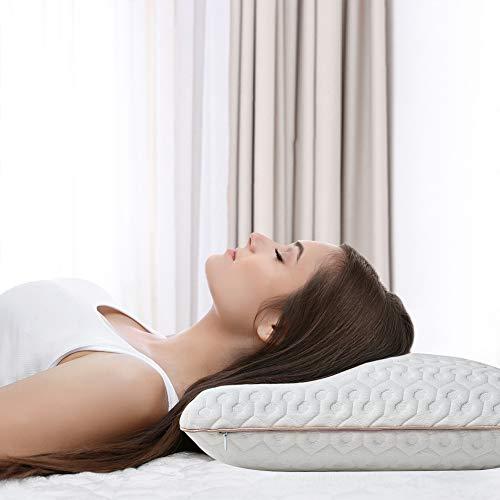 BedStory Oreiller à Mémoire de Forme Amélioré avec Gel Respirant, Oreiller Anti ronflement 60x40x13cm...
