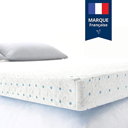 ViscoSoft Surmatelas 90x190 Gel sur Matelas Mousse memoire de Forme | Hauteur 5cm Effet Relaxant | Housse...