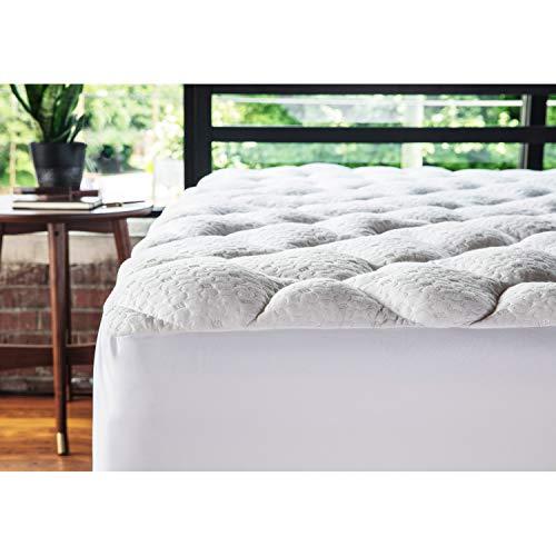 mello Surmatelas Bambou, Surmatelas 160x200 avec Matelassage Pliable pour clic clac Convertible, Confort...