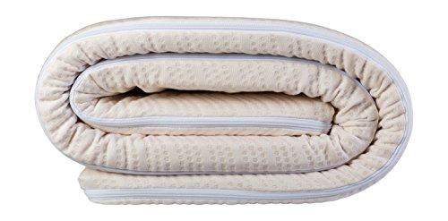 Best Sleep, Surmatelas Latex, Blanc, 90 x 190 cm, Epaisseur 4 cm