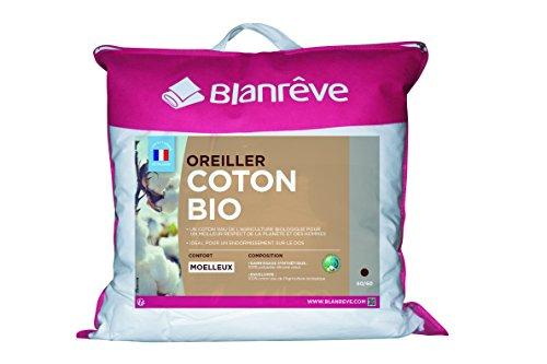 Blanrêve ORBIOHP006060 Oreiller Coton Bio , Blanc , 60 x 60
