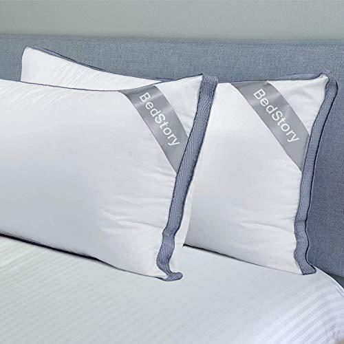 BedStory Lot de 2 Oreillers 50 x 70 cm, Oreillers en Microfibre de Haute Qualité, Oreiller Respirant...