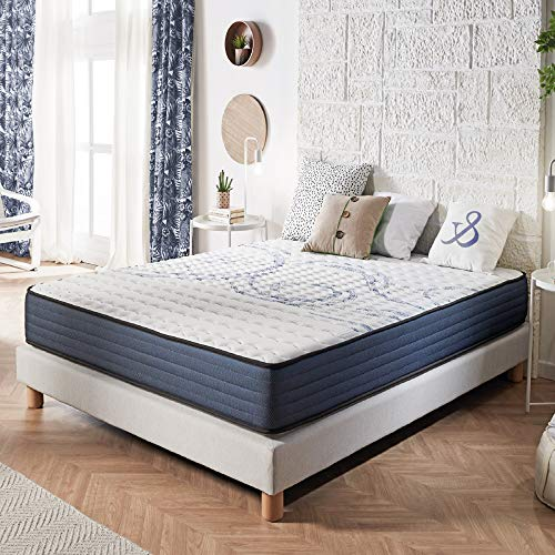 NATURALEX | Matelas Perfectsleep 140x190 Cm | Mousse A Mémoire Technologie Blue Latex Multi-Densité HR...