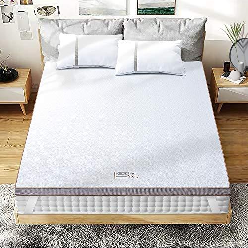 BedStory [Nouvelle Technologie] Surmatelas 140 x 190 à Mémoire de Forme de 5cm, Surmatelas Gel Plus...