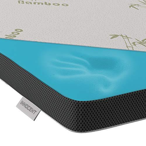 INNOCENT® Gel Mousse surmatelas de Bambou 140x190 cm | 3D Air Flow | Garnitures de Matelas...