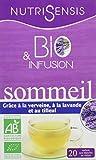 NutriSensis Sommeil grâce à la Verveine à la Lavande/au Tilleul Infusions 20 Sachets 24 g Bio - Lot de...