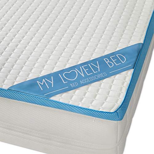 My Lovely Bed | Surmatelas Mémoire de Forme Rafraichissant | 160x200 cm | Refroidissant : Mousse...