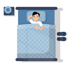 homme qui dort d'un bon sommeil