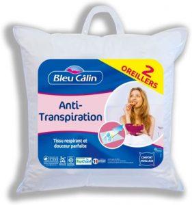 oreiller anti-transpiration bleu calin